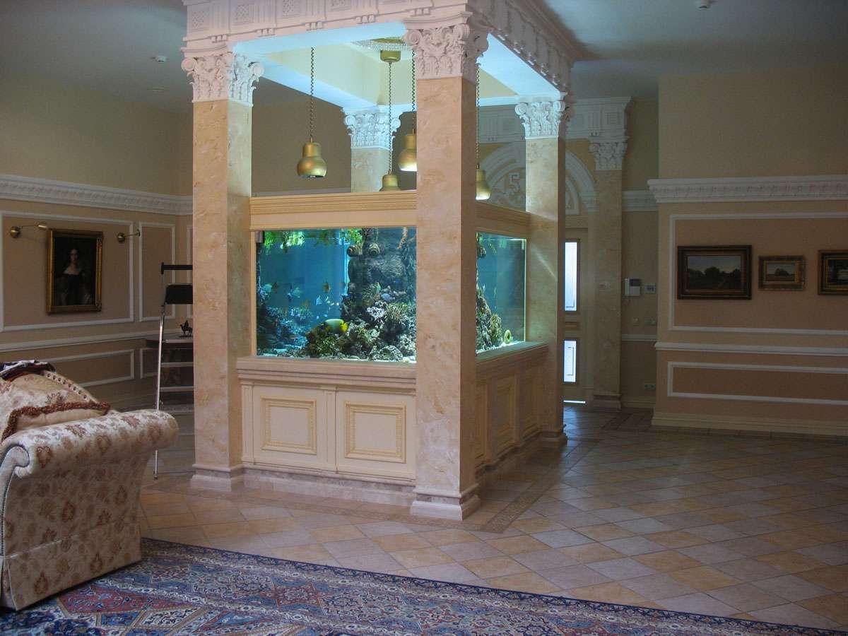 Морской аквариум 4000л. в частном доме.